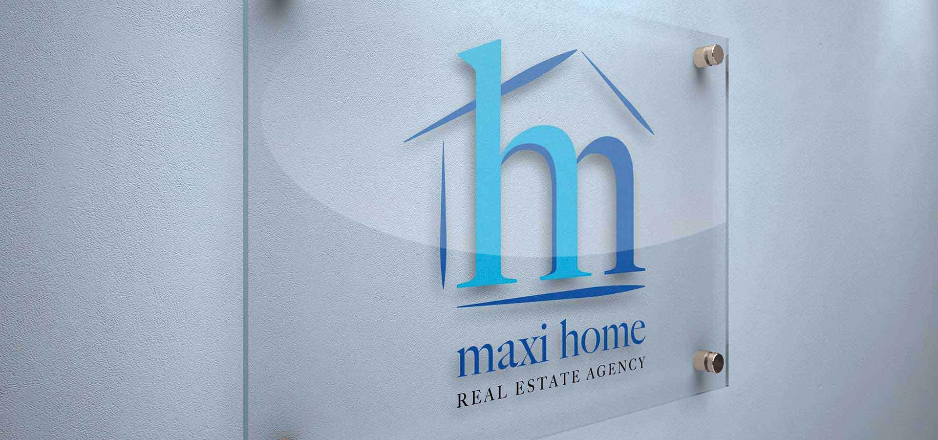 Targa agenzia immobiliare Maxi Home